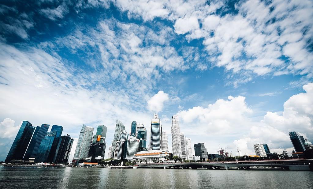 Skyline of Singapore Business Buildings